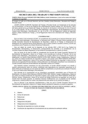NOM-001-STPS-2008 - Portal de servicios electrónicos