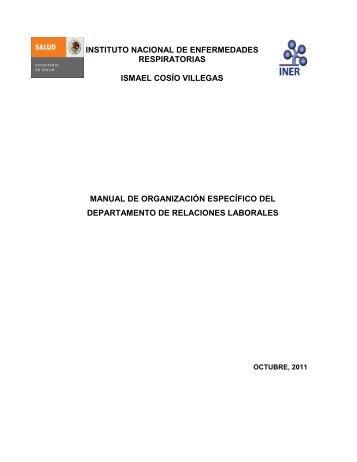 Departamento de Relaciones Laborales - Instituto Nacional de ...