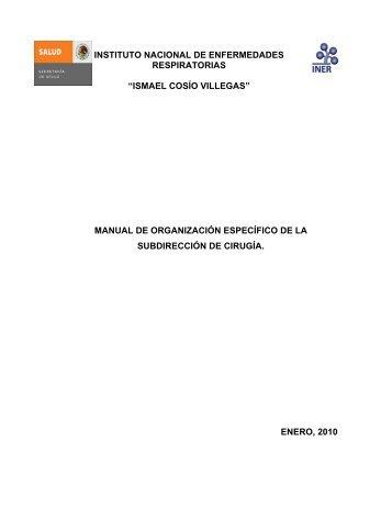 Subdirección de Cirugía - Instituto Nacional de Enfermedades ...