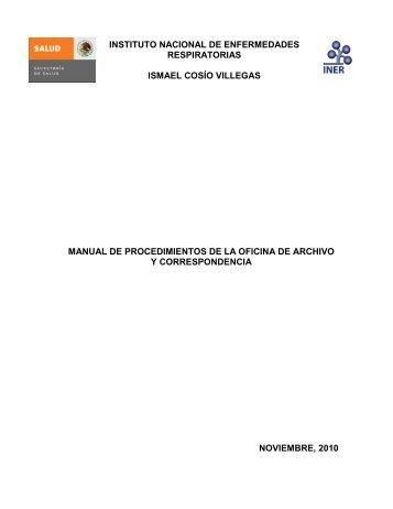 Oficina de Archivo y Correspondencia - Instituto Nacional de ...