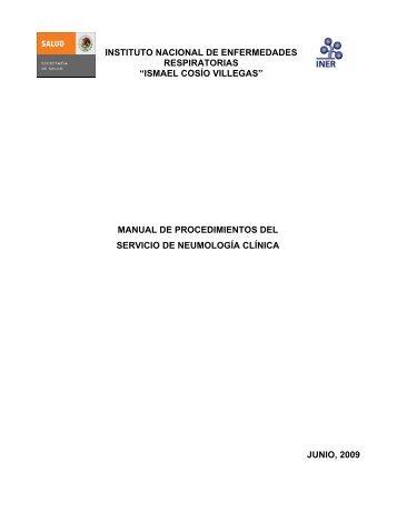 ismael cosío villegas - Instituto Nacional de Enfermedades ...