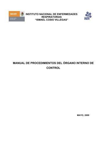 manual de procedimientos del órgano interno de control - Instituto ...
