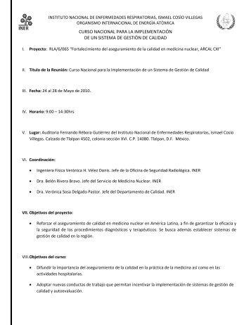 curso nacional para la implementación de un sistema de gestiòn de ...