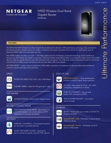 N900 Wireless Dual Band Gigabit Router - Netgear