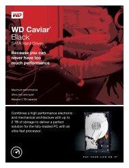WD Caviar® Black™ SATA Hard Drives - Product ... - Western Digital