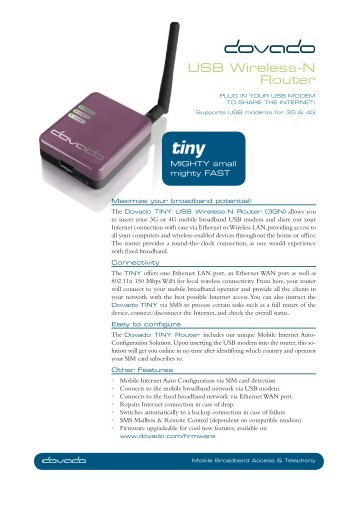 USB Wireless-N Router - Telco Technologies