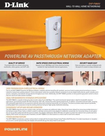 POWERLINE AV PASSTHROUGH NETWORK ADAPTER