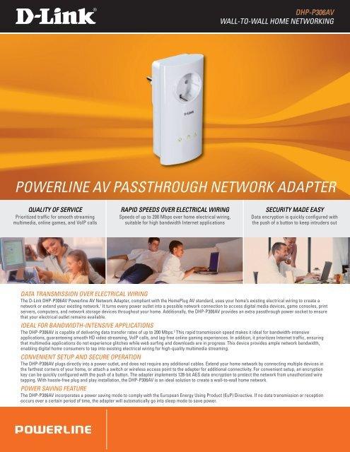 POWERLINE AV PTHROUGH NETWORK ADAPTER on