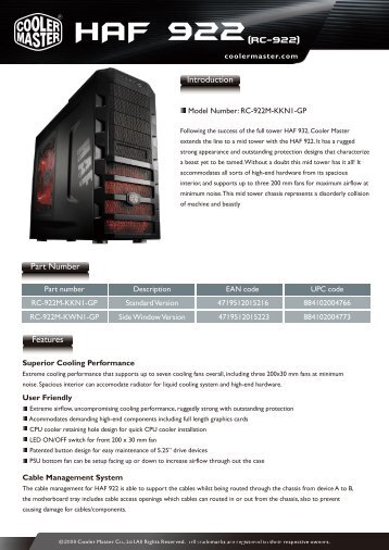 Product Sheet Template Chassis - Inet.se