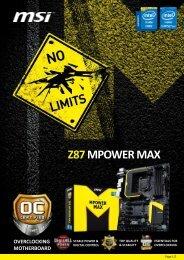 MSI Z87 MPOWER MAX Datasheet - Inet.se
