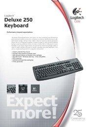 Deluxe 250 Keyboard - Inet.se