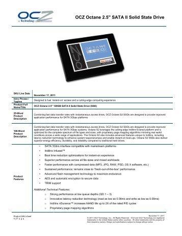 OCZ SKU sheet template V1. 082509 - Inet.se