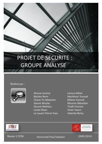 PROJET DE SECURITE : GROUPE ANALYSE - inetdoc.net