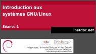 Plan Introduction aux systèmes GNU/Linux - inetdoc.net
