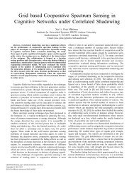 Grid based Cooperative Spectrum Sensing in Cognitive Networks ...