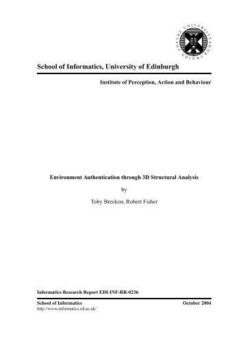 View - School of Informatics - University of Edinburgh