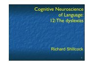 Cognitive Neuroscience of Language: 12: The dyslexias
