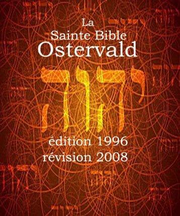 La Sainte Bible Ostervald 1996, révision 2008
