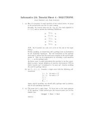 Informatics 2A: Tutorial Sheet 4 - SOLUTIONS