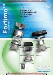 Strahler und Strahlerserien mit LED Modulen ... - Cardanlight Europe