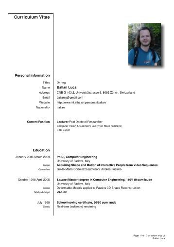 Master thesis computer science archive