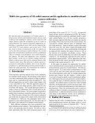 Multi-view geometry of 1D radial cameras and its application to ...