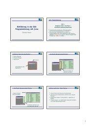 Einführung in die GUI Programmierung mit Java