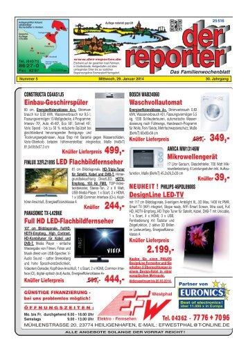 der reporter - Das Familienwochenblatt für Fehmarn 2014 KW 05