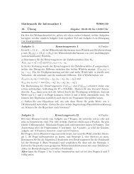 Mathematik für Informatiker I WS08/09 10. ¨Ubung