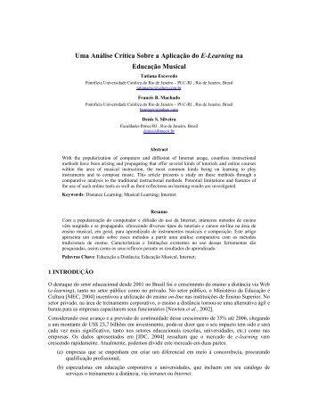 Uma Análise Crítica Sobre a Aplicação do E-Learning na ... - PUC-Rio
