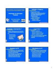 Modelagem de Aplicações Paralelas Definição e Objetivos ...