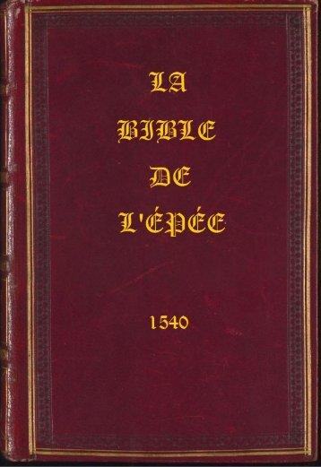 La Bible de l'Épée 1540