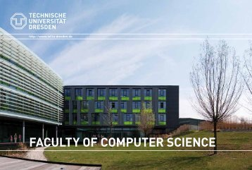 faculty of computer science - Fakultät Informatik - Technische ...