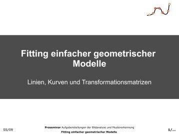 Fitting simple geometric models