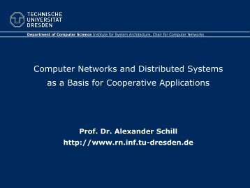 Computer Networks and Distributed Systems as a Basis for ...