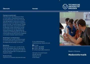 Medieninformatik - Fakultät Informatik - Technische Universität ...