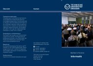 Informationsflyer zum Studiengang - Fakultät Informatik - Technische ...