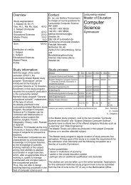 Computer Science - Fakultät Informatik - Technische Universität ...