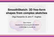 SmoothSketch: 3D free-form shapes from complex sketches
