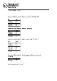Prüfungsergebnisse WS 2007/2008 - Fakultät Informatik