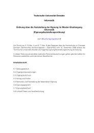 Eignungsfeststellungsordnung - Fakultät Informatik - Technische ...