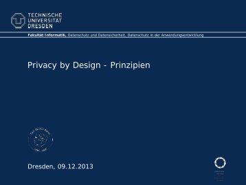 Privacy by Design - Prinzipien