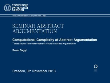 Seminar Abstract Argumentation - Computational Complexity of ...
