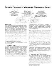 Semantic Processing of a Hungarian Ethnographic Corpus