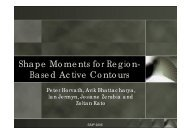 Shape Moments for Region- Based Active Contours