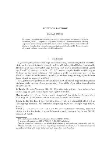 for pdf file - Informatikai Tanszékcsoport - Szegedi Tudományegyetem