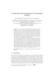 A Multi-Stack Based Phylogenetic Tree Building Method