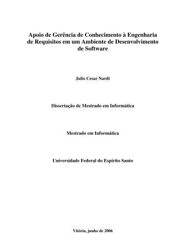 Dissertação - Departamento de Informática