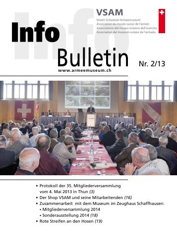 Bulletin Nr. 2/13 - Verein Schweizer Armeemuseum