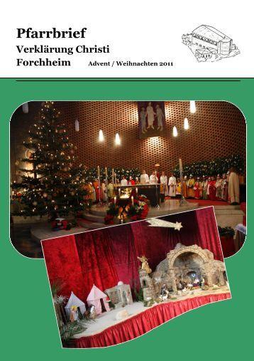 Pfarrbrief Advent 2011 1 - Erzbistum Bamberg